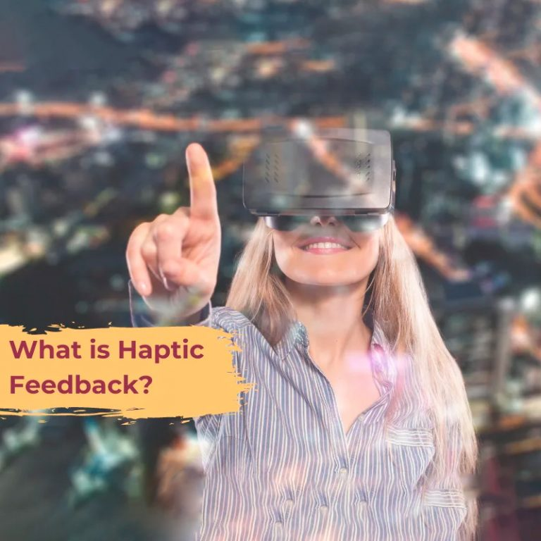 Haptic feedback in action through VR.