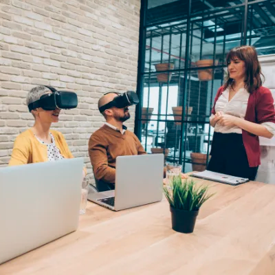 VR for remote collaboration at the workplace.
