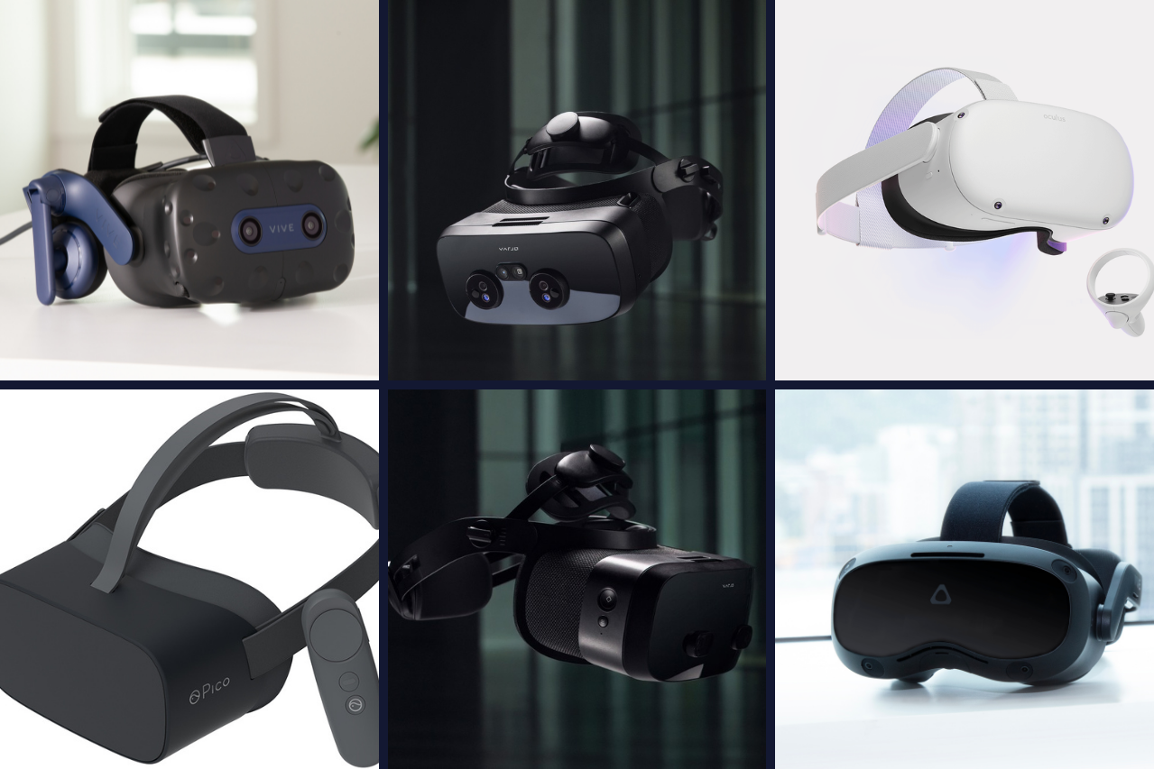 VR headsets for eLearning and gaming.