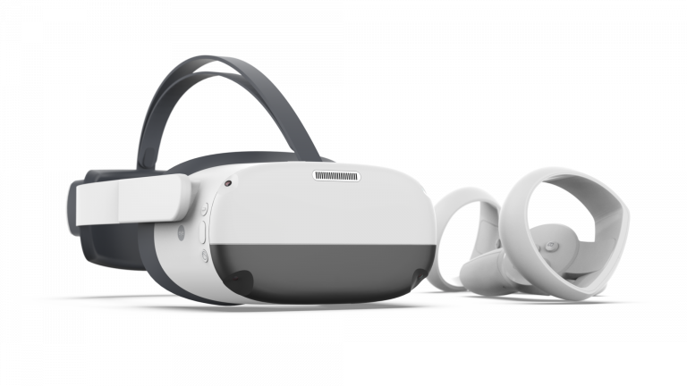 VR Headset with controllers.