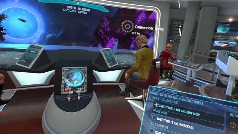 Star Trek bridge Crew VR Simulation.