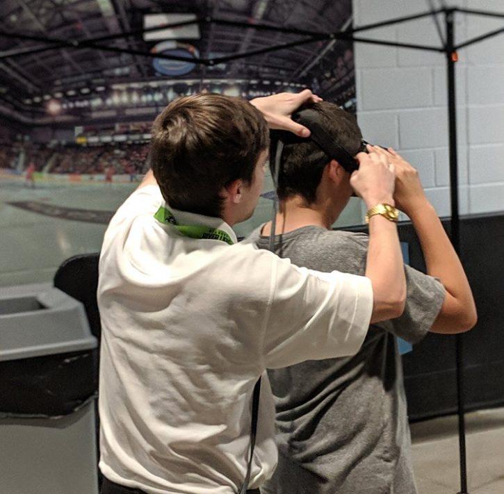 VR Tech support set up.