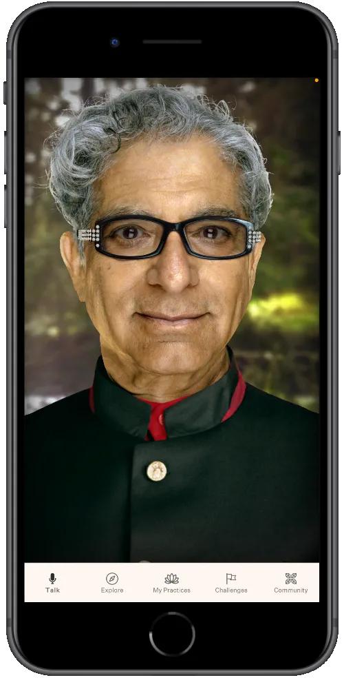 Digital Avatar on an iPhone.