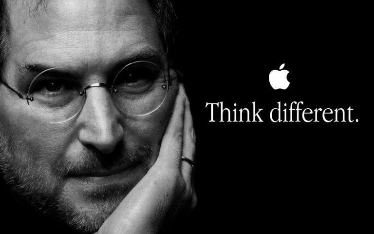 Steve Jobs Thinks Different poster.